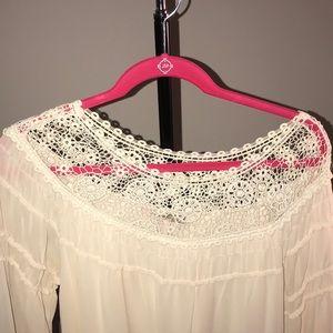 Off white dress floral boho